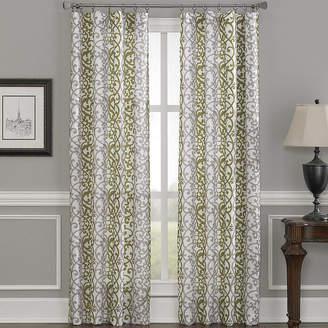 CHF Damask Stripe Rod-Pocket Curtain Panel