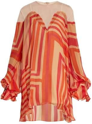 Katie Eary Geo-print silk-chiffon dress