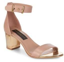 Donna Karan Tina Leather Heeled Sandals