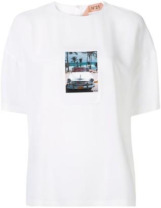 No.21 polaroid print T-shirt