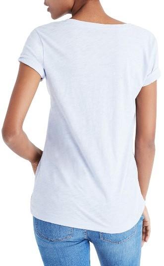 Women's Madewell 'Whisper' Cotton V-Neck Pocket Tee 4