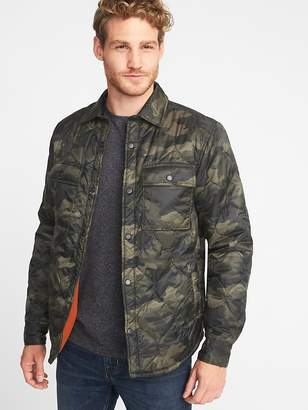 Old Navy Quilted Water-Resistant Shirt Jacket for Men