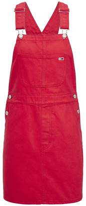 Tommy Jeans Classic Cotton Dungaree Pinafore Dress