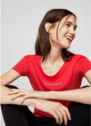 MANGO (マンゴ) - Tシャツ .-- MANGOLOG-H (レッド)
