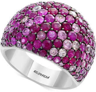 Effy Splash by Ruby (3-1/2 ct. t.w.) & Pink Sapphire (2-5/8 ct. t.w.) Ring in Sterling Silver