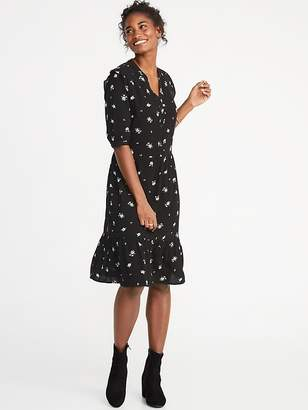 Old Navy Waist-Defined Shirt Dress for Women