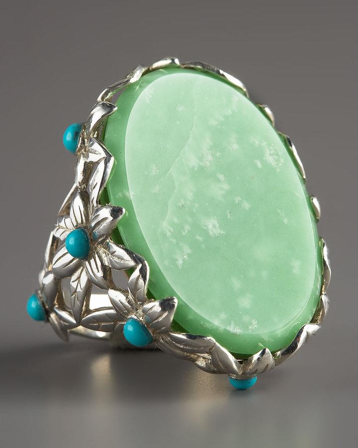 Stephen Dweck Lime Jade Ring
