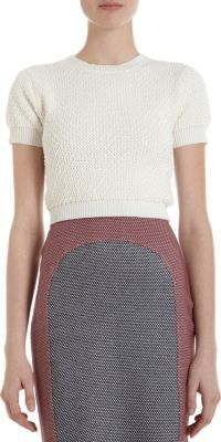 Opening Ceremony Pearl Crochet Cropped Sweater