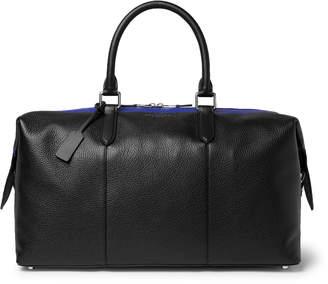 Smythson Burlington Striped Full-Grain Leather Holdall - Men - Black