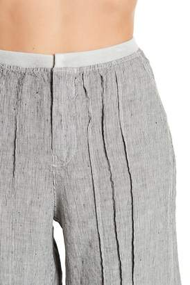 XCVI Ebba Micro Stripe Wide Leg Pants
