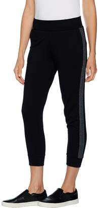 Logo By Lori Goldstein LOGO Lounge by Lori Goldstein French Terry Pants with Crochet Detail