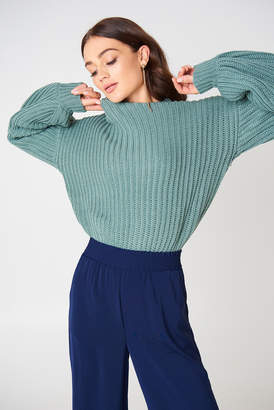 NA-KD Na Kd Balloon Sleeve Knitted Sweater