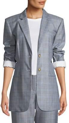 Tibi Cooper Menswear Check Cutout Blazer