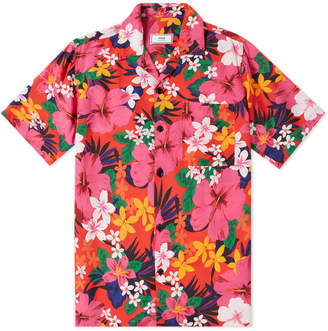 Ami Short Sleeve Floral Camp Collar Shirt