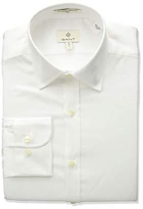 Gant Men's Stretch Plain Sateen Slim Town Shirt