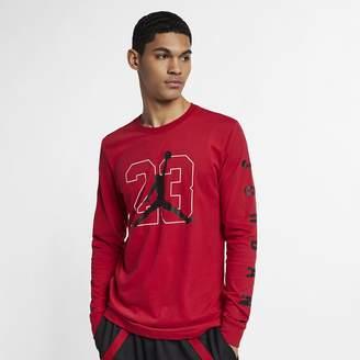 Jordan Men's Graphic Long-Sleeve Basketball T-Shirt
