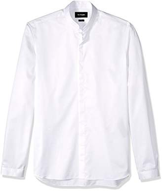 The Kooples Men's Plain Cotton Dress Shirt with a Stand-up Collar