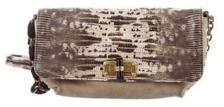 Lanvin Lizard & Suede Happicolo Bag