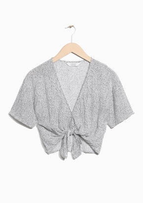 Other Stories V-Neck Knotted Crop Top