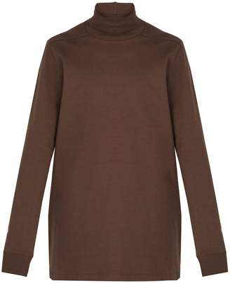 Rick Owens Roll-neck cotton sweater