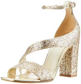 369428146f5 Karen Millen Fashions Limited Women s Glitter Block-Heel Sandals Open Toe ( Gold 84)