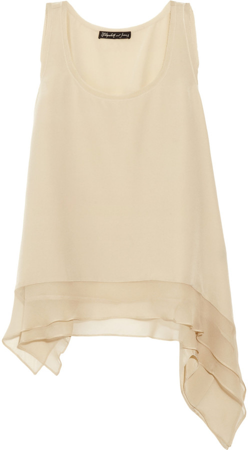 Elizabeth and James Adrienne silk-crepe top
