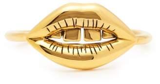 Aurelie Bidermann Lips 18kt Gold Plated Cuff Bracelet - Womens - Gold