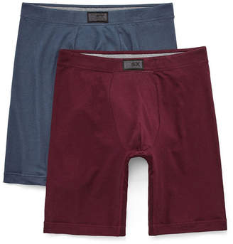MSX BY MICHAEL STRAHAN MSX by Michael Strahan 2-pk. Cotton Stretch Long Leg Boxer Briefs - Big & Tall
