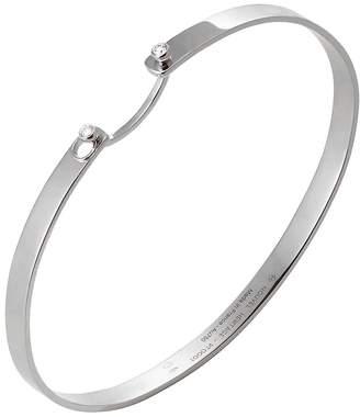 Nouvel Heritage 16cm Monday Morning Mood Bangle Bracelet - White Gold