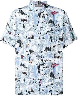 Lanvin Mountains bowling shirt