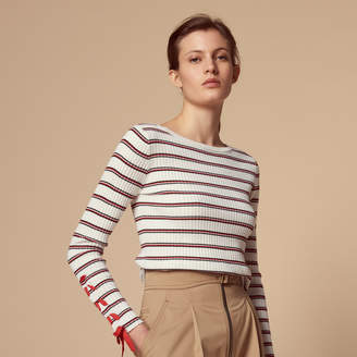 Sandro Wool blend sweater with laced sleeves