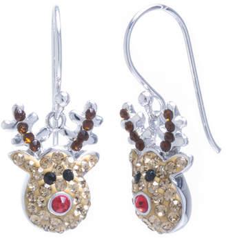 SPARKLE ALLURE Sparkle Allure Rudolph Multi Color Crystal Silver Over Brass Drop Earrings