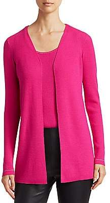 Saks Fifth Avenue Women's COLLECTION Wool Elite Open Cardigan