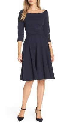 Harper Rose Pleated Waist Fit & Flare Dress