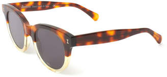 Illesteva Two-Tone Rectangle Sunglasses