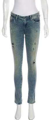 Diesel Mid-Rise Distressed Jeans