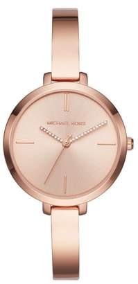 Michael Kors Jaryn Crystal Accent Bangle Watch, 36mm