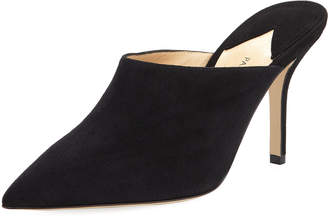 Paul Andrew Certosa Point-Toe Suede Mule Pump