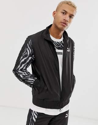 Puma Wild Pack track jacket in zebra print
