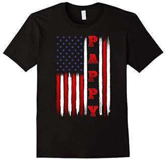 Mens American Flag Patriotic Pappy T Shirt on Christmas