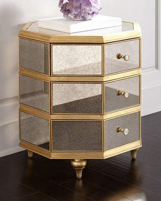 Hooker Furniture Cynthia Rowley for Bewitch Mirrored Side Table
