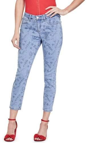 GUESS Factory Women's Nadia Graffiti Skinny Cropped Jeans