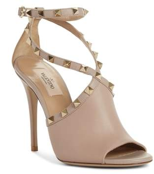 Valentino Rockstud Peep Toe Sandal