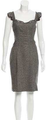 Dolce & Gabbana Wool-Blend Sleeveless Dress