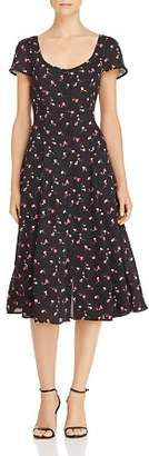 DAY Birger et Mikkelsen Lost and Wander Lost + Wander Floral Button-Front Midi Dress