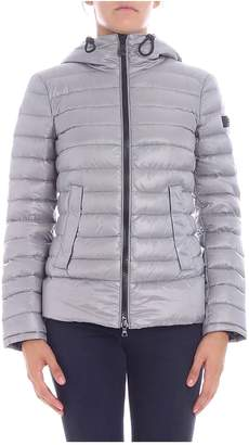 Peuterey Lightweight Short Down Jacket Color Ice With Quilt Ripstop