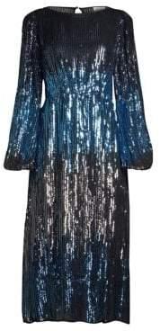 Alice + Olivia Rixo Coco Sequin Midi Dress