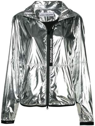 Paco Rabanne metallic windbreaker jacket