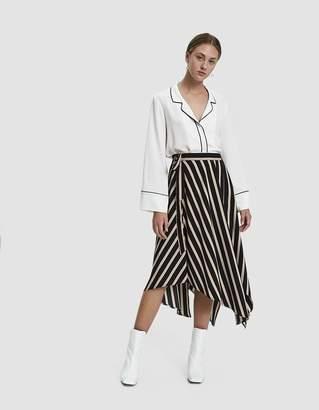 Stelen Alice Asymmetrical Striped Skirt