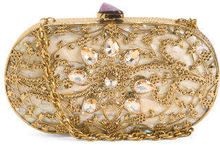 Handmade Boxed Double Sided Abalone Shell Clutch